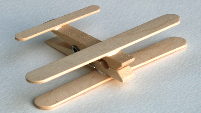 Make Easy Clothespin Airplanes